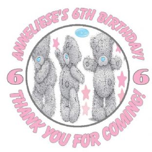 Personalised Me to You Tatty Teddy Party Stickers